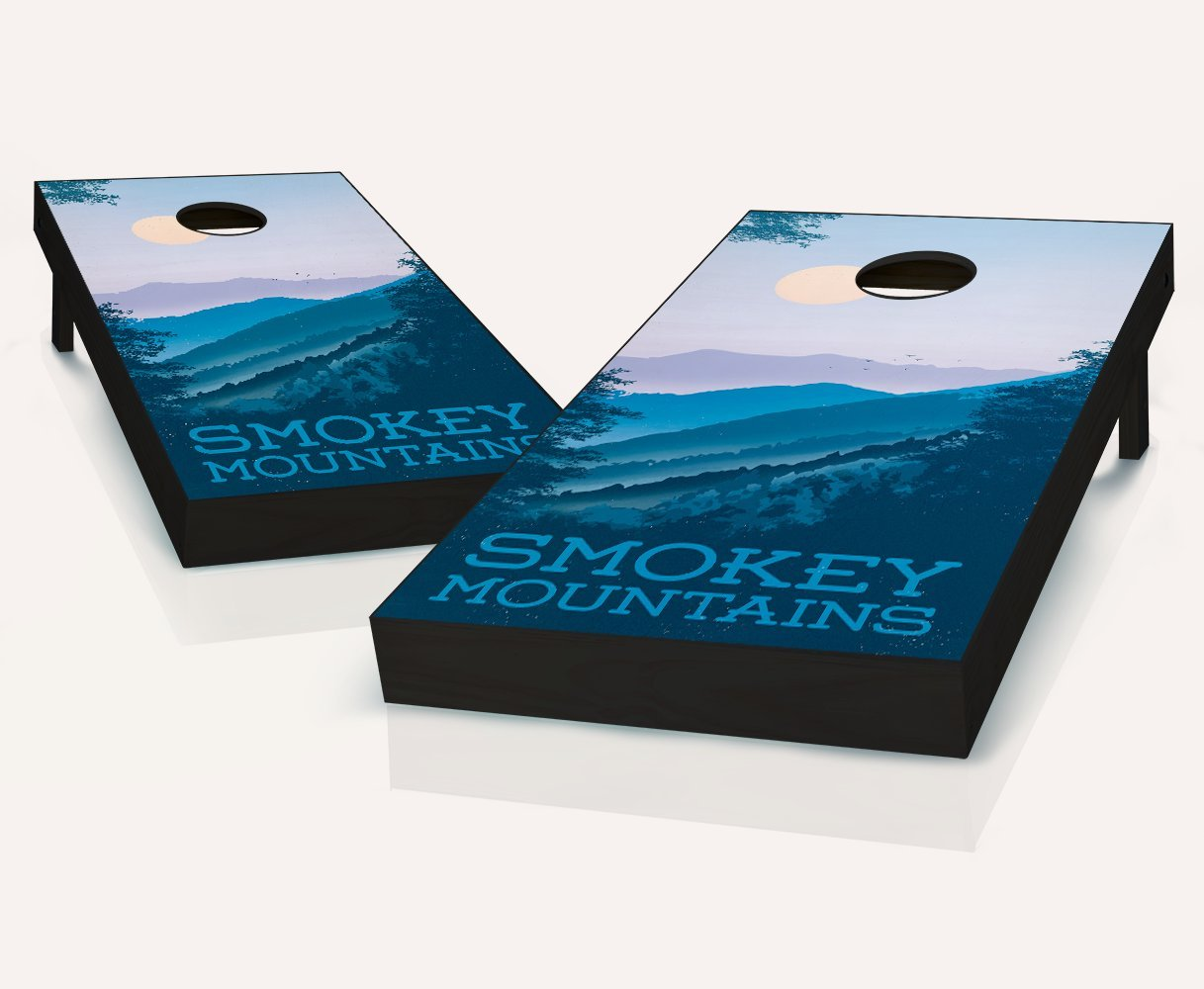 Tailgating Pros Smoky Mountain Cornhole Boards withのセット8 Cornhole Bags