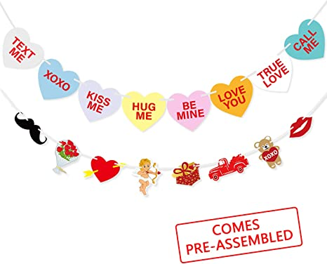 """Romantic Heart-shaped """"Love/'/' Valentine/'s Day Decor Wall Home Hanging Sign"""