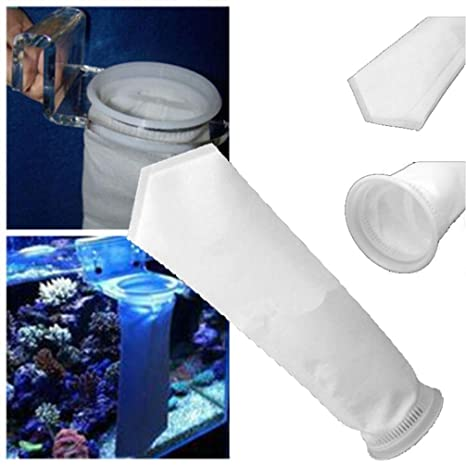igemy 200 micras filtro calcetín bolsa para cárter de arrecife de acuario tanque de peces marinos