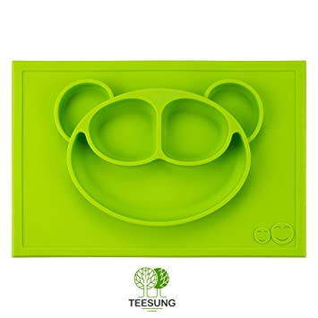 Silicone Baby Feeding Placemat - Portable BPA-Free Dinnerware Dish with Cute Happy Monkey  sc 1 st  Amazon.com & Amazon.com : Silicone Baby Feeding Placemat - Portable BPA-Free ...