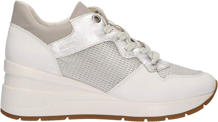 Geox D ZOSMA C Damen Silber Schuhe D828LCC0434