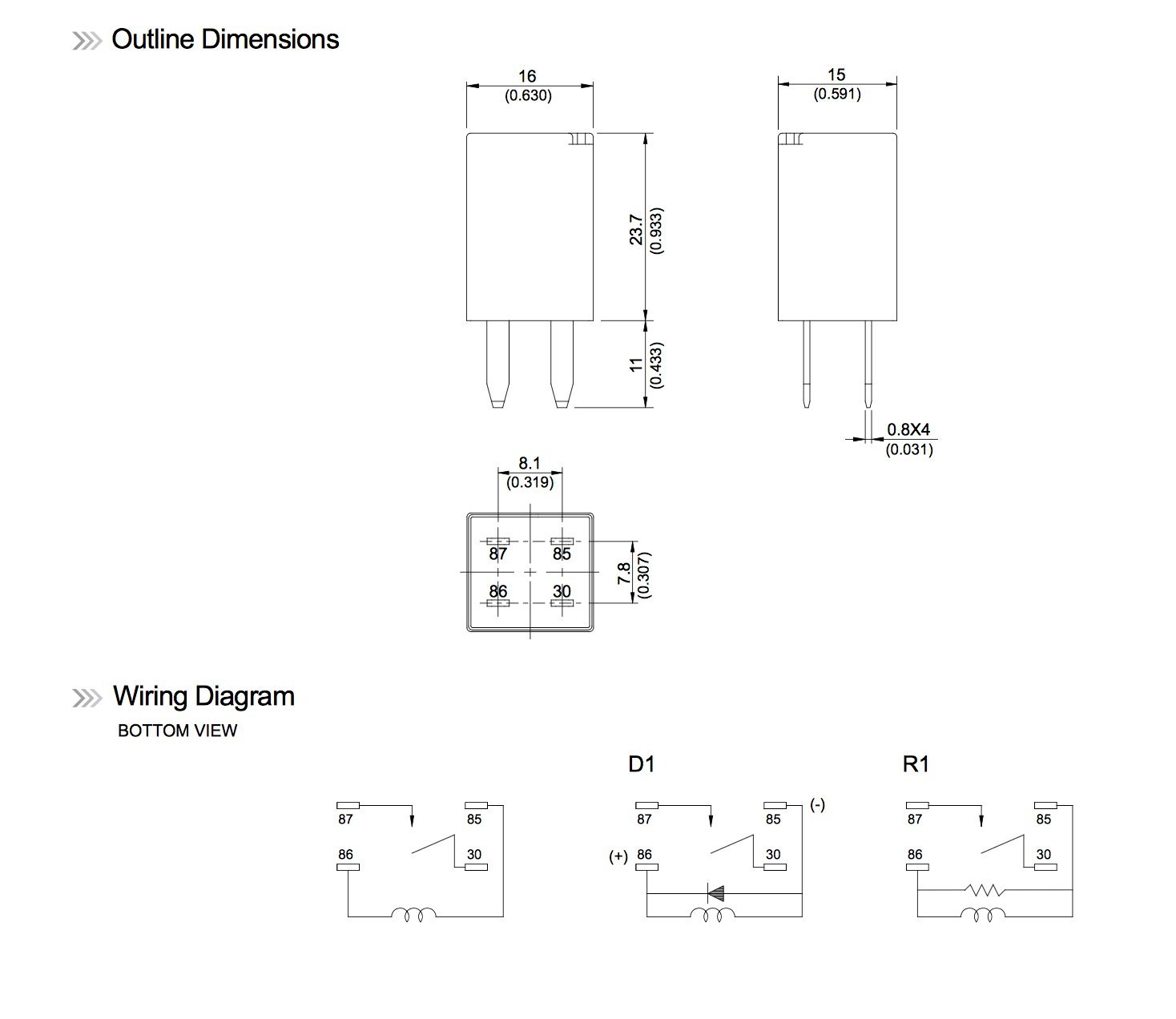 General Purpose Relays 303 1ah C R1 U01 12vdc Spno 20a 12 Volt Horn Relay Wiring Diagram 5 Piece Home Improvement