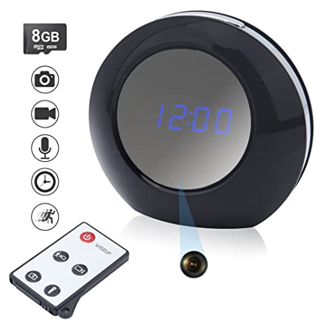 WISEUP 8GB 1280x960P Cámara Espía Reloj Detector de Movimiento Grabadora de Vídeo Videocámara 140 ° Ángulo