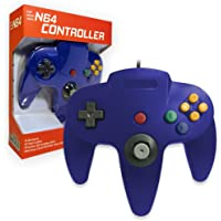 Old Skool Classic Wired Controller Joystick for Nintendo 64 N64 Game System - Blue