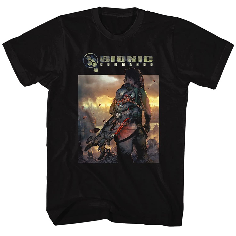 Bionic Commando - Mens The World Burn T-Shirt