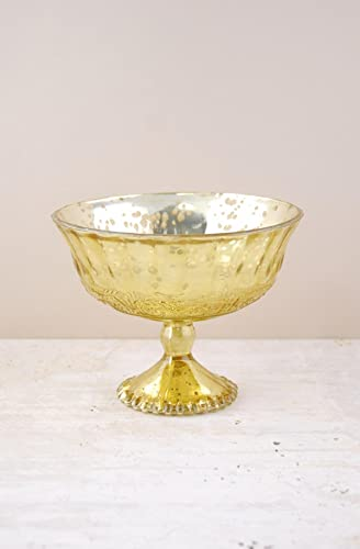 Richland Mercury Glass Compote Gold 7 x 5.25 Set of 6