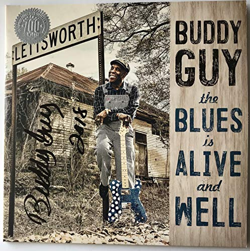 Buddy Guy signed album the blues is alive and well lp autographed new