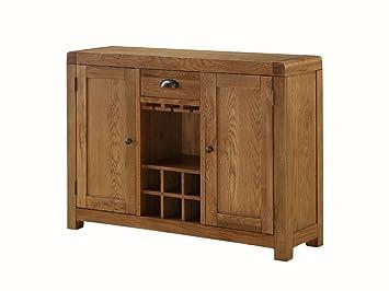 the one oakville sideboard aus eiche klein mit wein rack weinregal eiche massiv