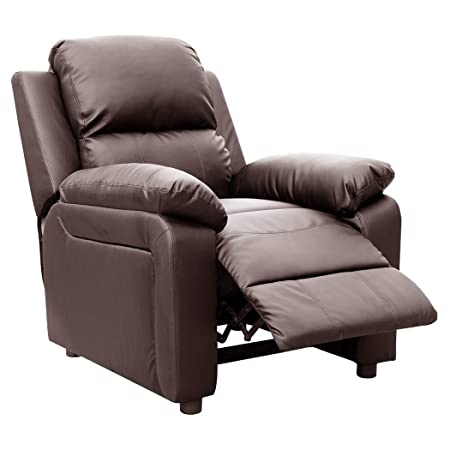 More4Homes ULTIMO BROWN BONDED LEATHER RECLINER ARMCHAIR SOFA CHAIR  RECLINING HOME LOUNGE