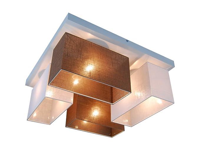 Plafoniera illuminazione a soffitto in legno massiccio jls45webrd