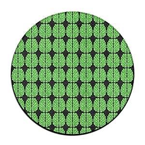 Halloween verde cerebros alfombra de suelo redondo Doormats para decoración de casa Comedor dormitorio cocina baño balcón