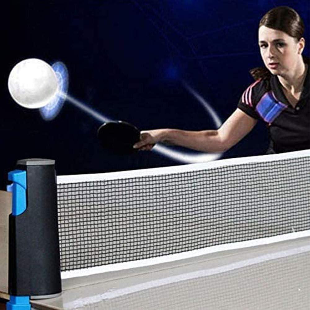 Juegos para ni/ños en Interiores//Exteriores 4YANG Juego de Tenis de Mesa port/átil Equipo de Ping Pong con 2 Raquetas la Familia 3 Pelotas y una Red retr/áctil adecuados para la Escuela