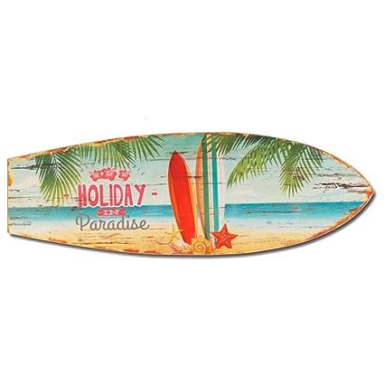 Vacaciones en Paradise Tabla de surf de madera decoración de pared