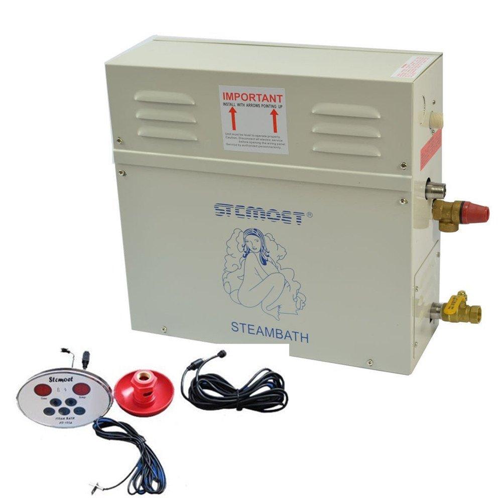 ELEOPTION Sauna Steam Shower Generator Bath Steamer 4.5KW 220V with Waterproof Programmable Temperature Controller for Home SPA Shower