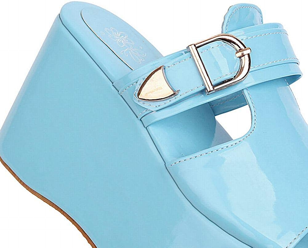 BIANJIE Femme Chaussures Talon compens/ée Plateformes Mules