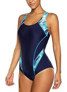 91d3dfbda31 CharmLeaks Women s Sport Pro One Piece Swimsuit Athletic Racerback Swimwear