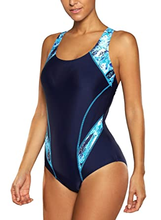 81b69c903d1e0 CharmLeaks Laps Swimming Bathing Suit Chlorine Resistant Swimsuit Sport  Swimwear