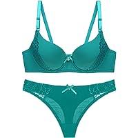 Women's Sexy Bra Set-Ladies Lace Underwire Underwear and Daily Bra
