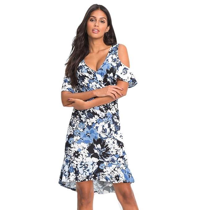 Vestido De Casual Bluestercool Hombro Mujeres Exponer Playa eW9YDIEH2