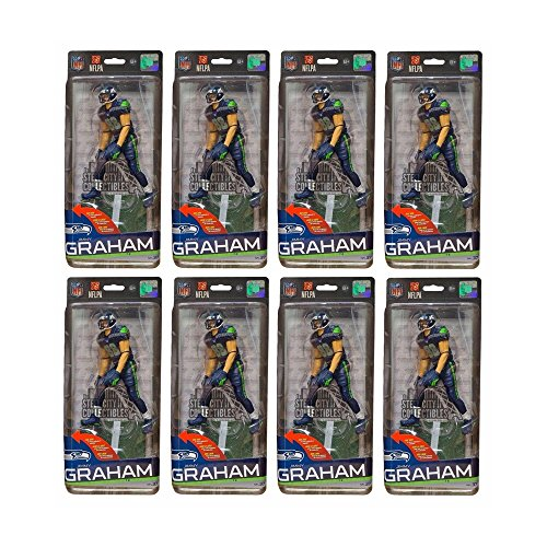 8ct Lot Jimmy Graham Seattle Seahawks NFL Series 37 Football McFarlane Figure
