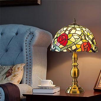 Lámpara de mesa Tiffany de 12 pulgadas estilo 2 Lámpara de mesa de ...