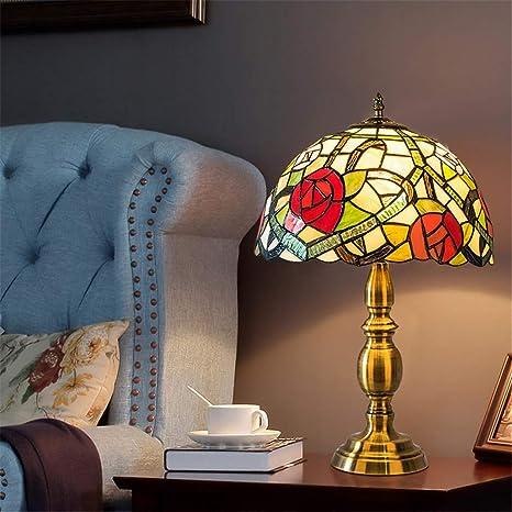 Lámpara de mesa Tiffany de 12 pulgadas estilo 2 Lámpara de ...