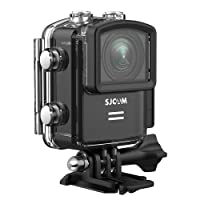 SJCAM M20 16MP 4k Action Camera, Sony Sensor/ 2.4G Remote Control/Gyro Stabilization/ 170 Degree Wide Angle WiFi Waterproof Underwater Cameras+ Waterproof Case-Black