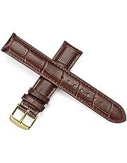 Pelle cinturino in pelle di ricambio da uomo cinturino e donne in oro rosa con fibbia in bianco e cinturino marrone