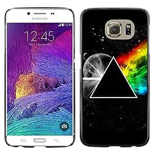 KOKO CASE / Samsung Galaxy S6 SM-G920 / triángulo simbolia secretas universo arco iris / Delgado Negro Plástico caso cubierta Shell Armor Funda Case Cover