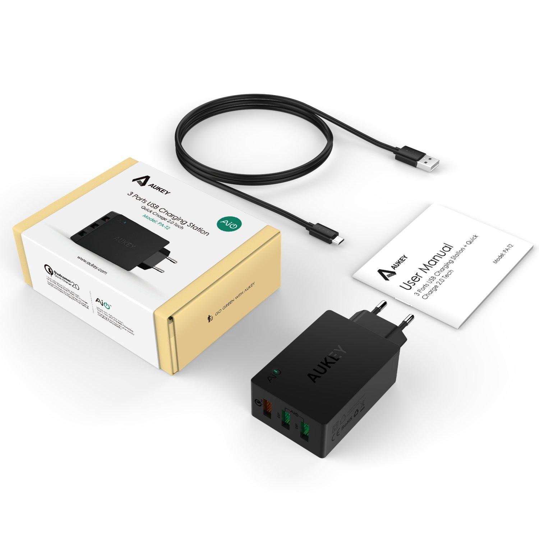 Cargador USB AUKEY Quick Charge 2.0 por solo 16,89€