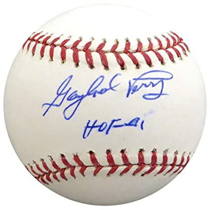 quality design 41028 2e840 Gaylord Perry Autographed Memorabilia Official MLB Baseball ...