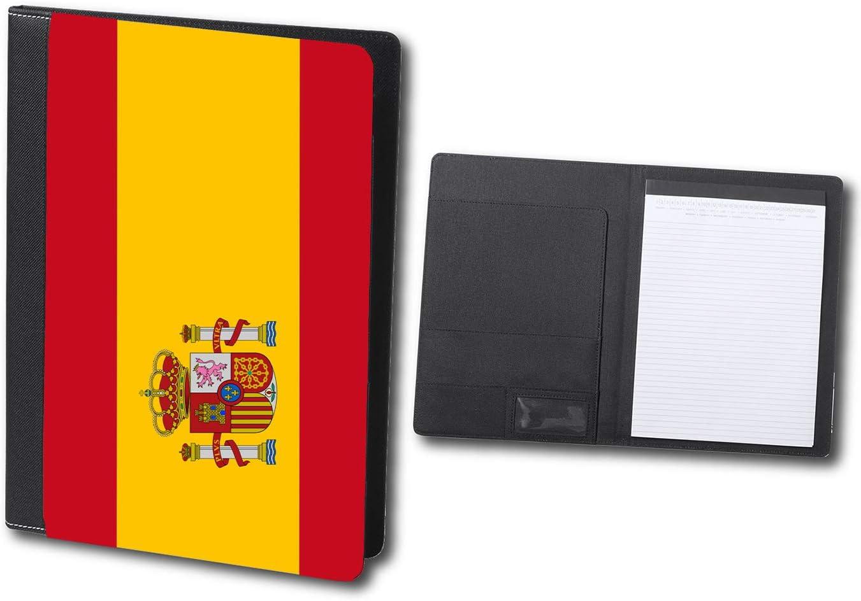 CARPETA ELEGANTE BANDERA ESPAÑA PAIS UNIDO schoolar binder: Amazon ...