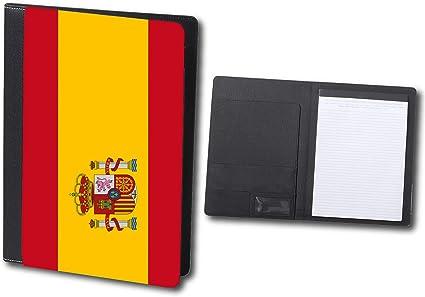 CARPETA ELEGANTE BANDERA ESPAÑA PAIS UNIDO schoolar binder: Amazon.es: Oficina y papelería