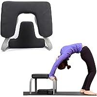 Berkalash PU hoofdstand bank, stoel hoofdstand voor yoga, zwarte yoga hulpmiddelen trainingsstoel, multifunctionele…