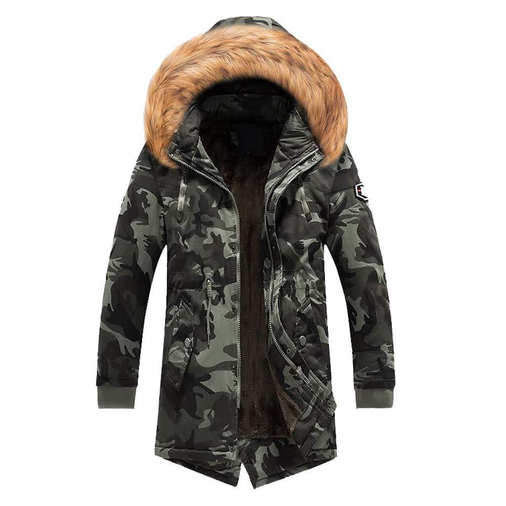 Amazon.com : Jiayit Mens Winter Fluffy Hooded Coats Oversized Big Sale! Men Camo Warm Jacket Overcoat : Sports & Outdoors