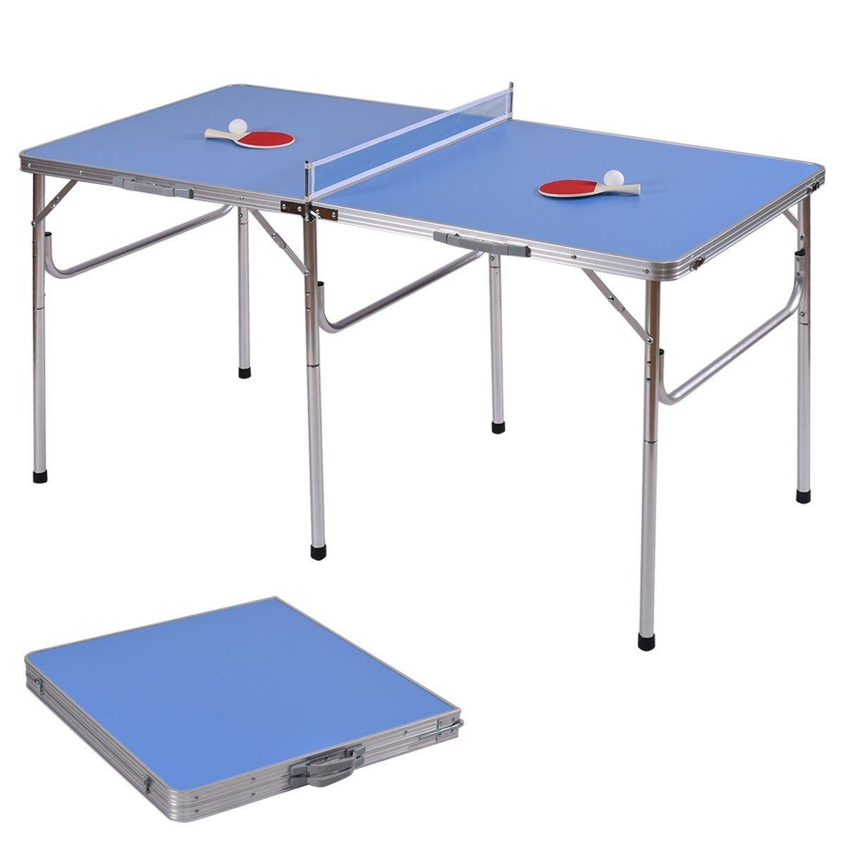 Svitlife 60'' Portable Tennis Ping Pong Folding Table w/Accessories Tennis Ping Pong Folding