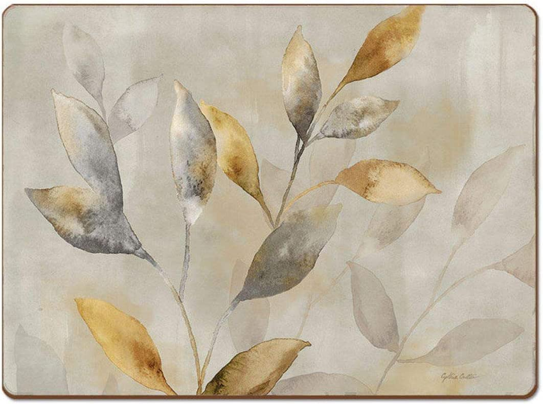 Cala Home 4 Premium Hardboard Placemats Table Mats, Majestic Leaves