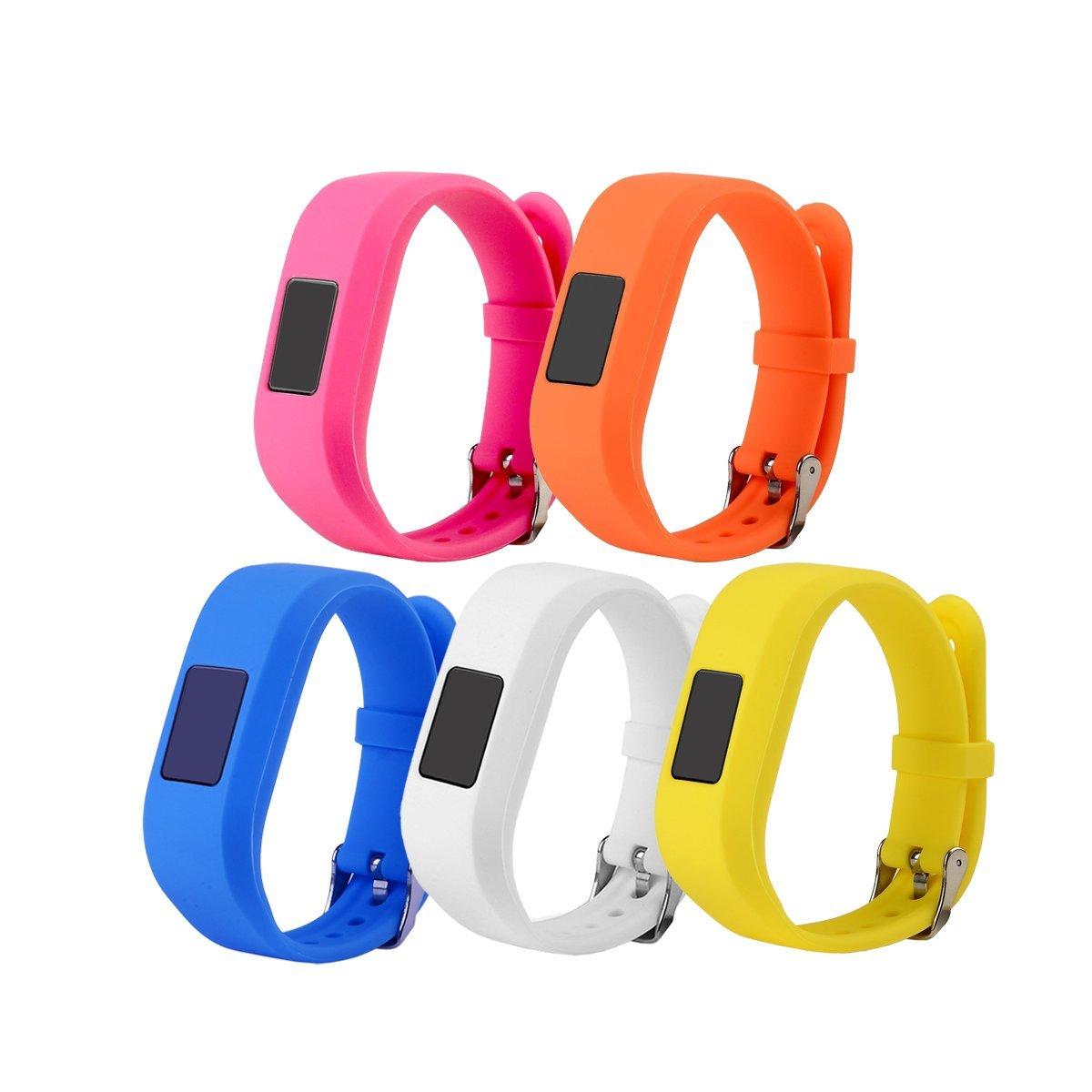 RuenTech Compatible for Garmin vivofit jr and vivofit jr 2 Replacement Band (Kid's Bands) Colorful Adjustable Wristbands with Secure Watch-Style Clasp Strap for Vivofit JR (Girl's colors) by RuenTech