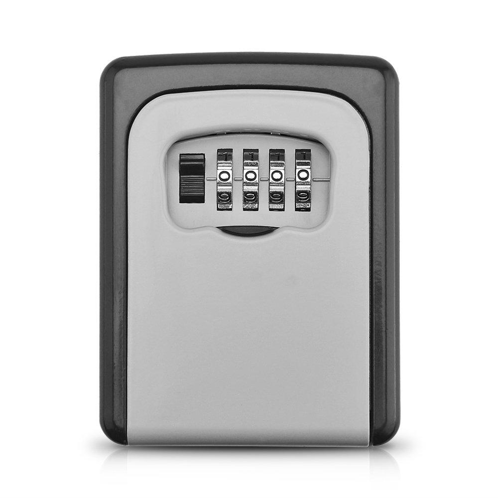 Organizzatore di stoccaggio, cassetta di sicurezza a chiave combinata Cassetta di sicurezza a chiave a chiave a 4 cifre, resistente agli agenti atmosferici Winbang