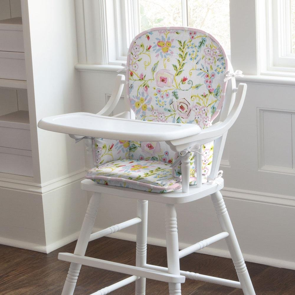 Carousel Designs Pink and Gray Primrose High Chair Pad