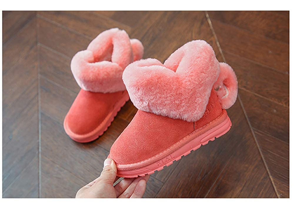 MINIKATA Fashion Winter Baby Girl Cotton Boot Warm Snow Boots with Bowknot