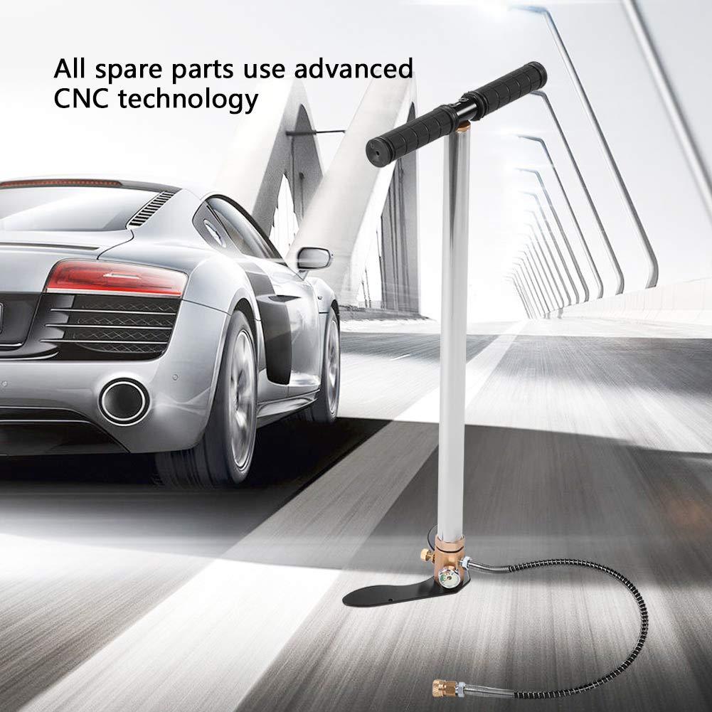 Pumpe ,Edelstahl Handpumpe mit CNC-Technologie Hoher Druck steigt auf 4500 psi,F/ür PCP Pistolen//Gewehre//Air Guns//Automobil Reifen//Motorrad Reifen//Fahrrad