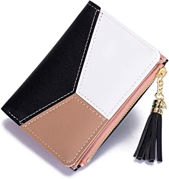 Women Wallet Coin Purse Phone Clutch Pouch Cash Bag Female Girl Card Change Holder Organizer Storage Key Hold Leather Elegant Handbag Party Birthday Gift Festive Black