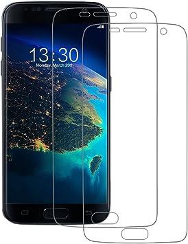 POOPHUNS Protector de Pantalla para Samsung Galaxy S7 (Cubierta Completa), 2 Unidades Protector de Pantalla para Samsung Galaxy S7, Ultra Transparencia Full HD, Libre de Burbujas, antihuellas: Amazon.es: Electrónica