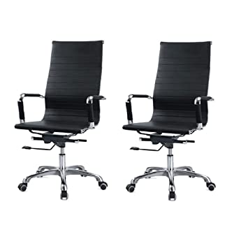 Office Chair Sunstar Ceilings Urban Ladder Venturi High Back Study-Office Computer Chair (Carbon Black)_Pack of 2