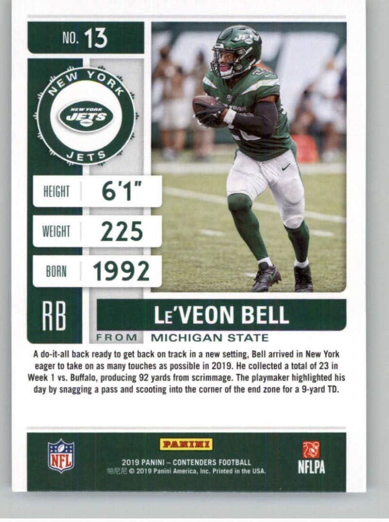 2019 Panini Contenders Season Ticket #13 LeVeon Bell New York Jets Football NM-MT