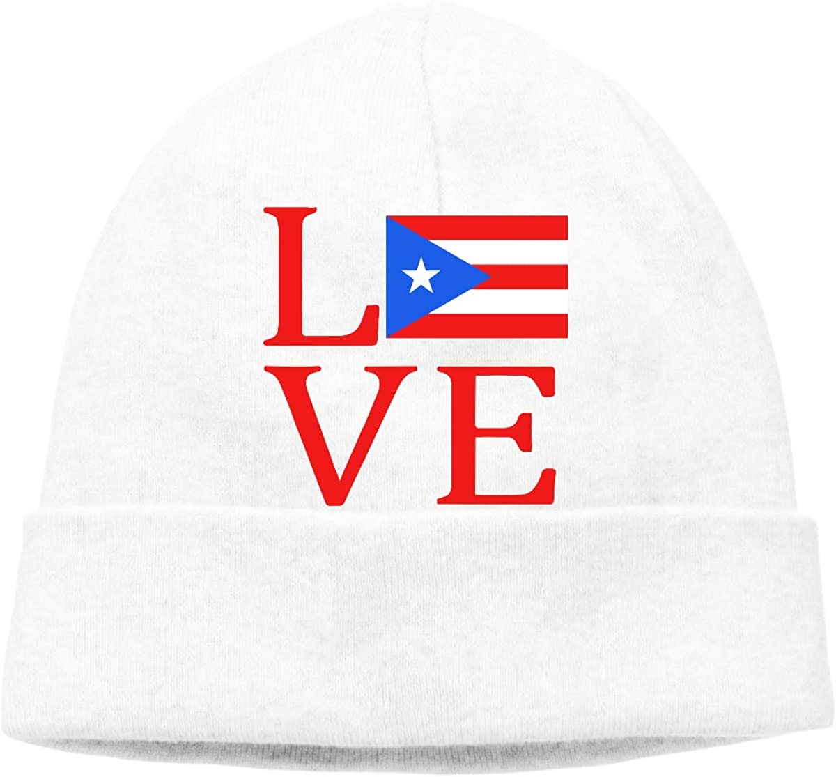Love Puerto Rico Flag Men Women Stretchy /& Soft Cycling Beanie Hats