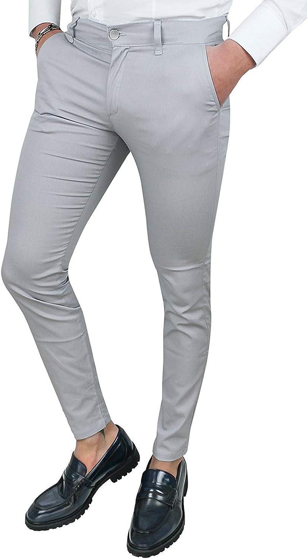 Cristiano Battistini Pantaloni Uomo Slim Fit Casual Eleganti in Cotone