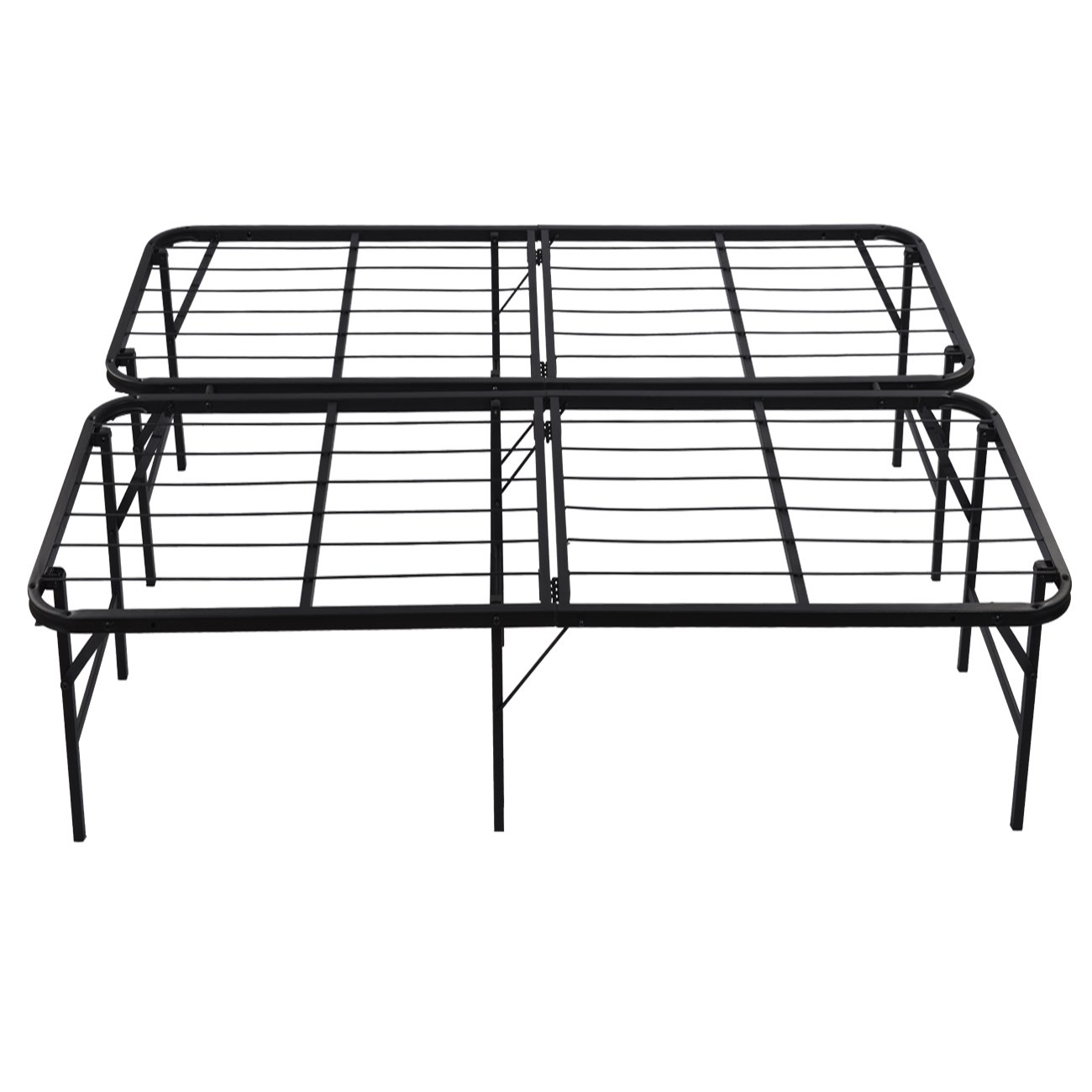 Amazon Belleze Foldable Bed Frame Queen Size 17 Inch Height Under Storage Space Kitchen Dining