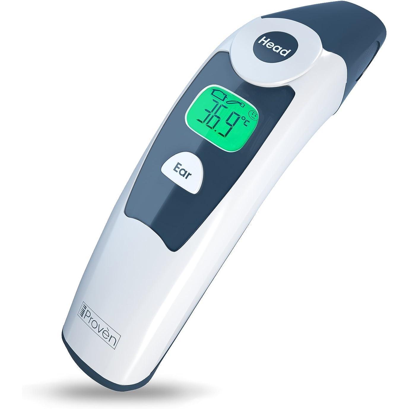Hersteller wie iProvèn bieten auch kombinierte Ohr- und Stirnthermometer an.